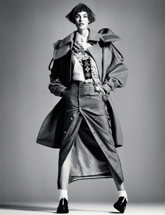 Linda Evangelista Dons Menswear Looks for Interview Russia's September Cover Story | Fashion Gone Rogue: The Latest in Editorials and Campaigns