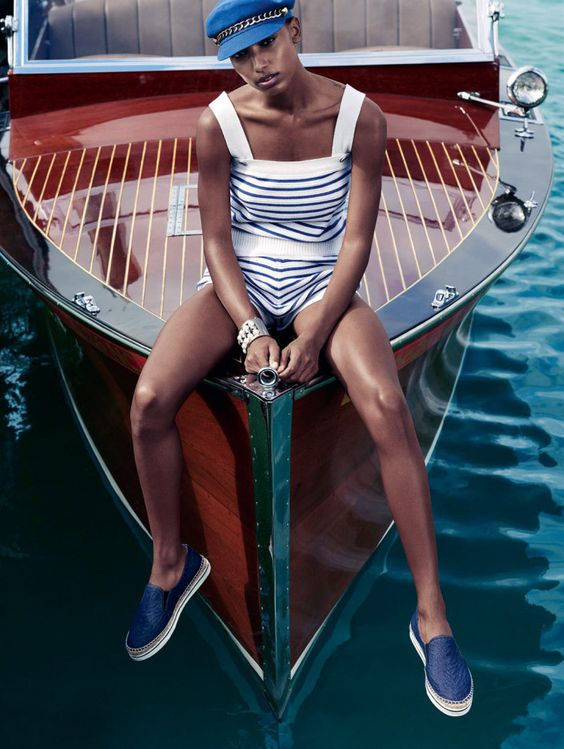 JASMINE TOOKES GOES 'BEYOND THE SEA' FOR ELLE UK MAY 2015 • WMN ISSUE