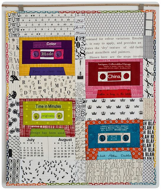 Fab-u-lous!: Quilt Inspiration, Quilting Sewing, Button Play, Quilt Block, Mini Quilts, Cassette Tape, Sewing Quilts, Cassette Quilt, Modern Quilt