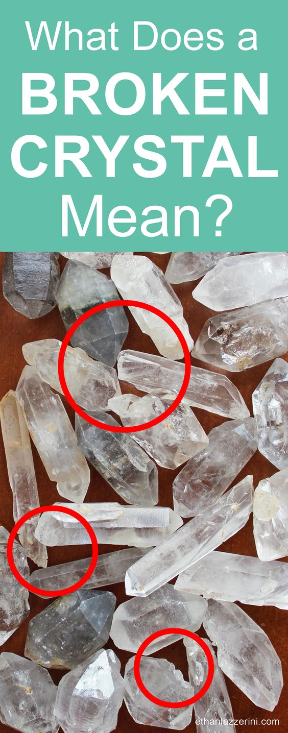Broken Crystals: What does a broken crystal mean? Why did it break or crack? Is there really a meaning or message and what should you do with the broken pieces? #crystals #crystalhealing