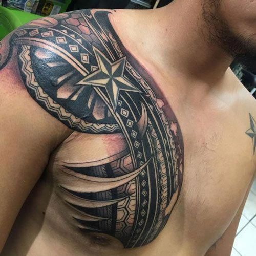 Unique Tribal Chest Tattoo With 3d Designs Best Tribal Tattoos For Men Cool Tribal Tattoo D Tribal Tattoos For Men Tribal Chest Tattoos Cool Tribal Tattoos