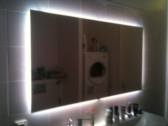 redditor craptain needed a new mirror for his bathroom and decided to go the diy route to soup it up not only does his mirror feature ambient rgb led lig bathroom mirrors and lighting
