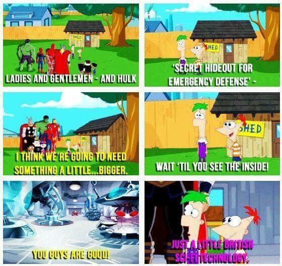 Phineas and Ferb mention Doctor Who to the Avengers.