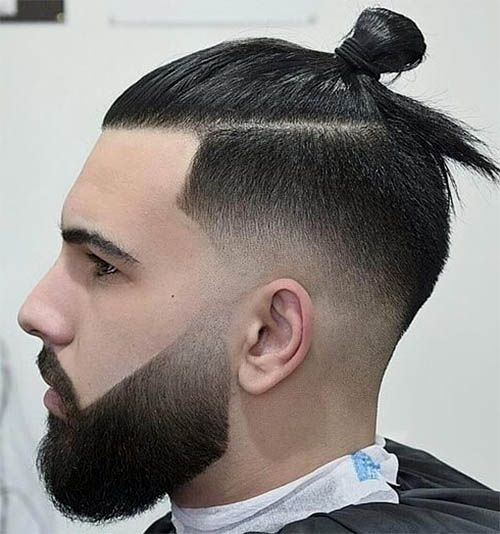 45 Super Cool Men S Samurai Hairstyles 2019 Best Trendy Haircuts Man Bun Hairstyles Man Bun Haircut Low Fade Haircut