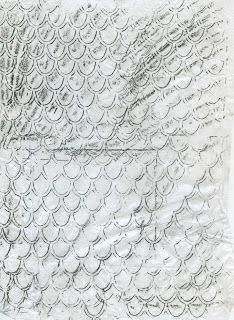 stitchestill: 11.Rubbings - Fish scales and Crocodile