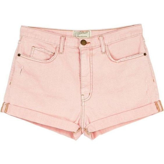 Current/Elliott The Short Westcoast Charmer ($290) ❤ liked on Polyvore featuring shorts, bottoms, blushback, summer shorts, current elliott shorts, current/elliott, boyfriend denim shorts et denim short shorts