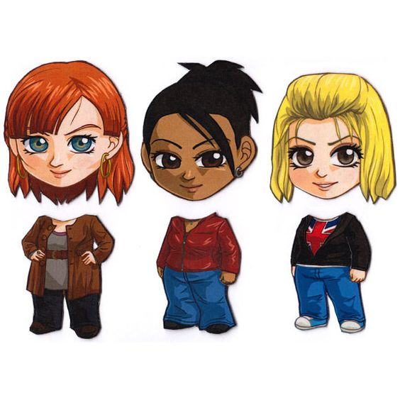 Mix and Match Magnets: Rose, Martha, Donna (Doctor Who New Companions Set)