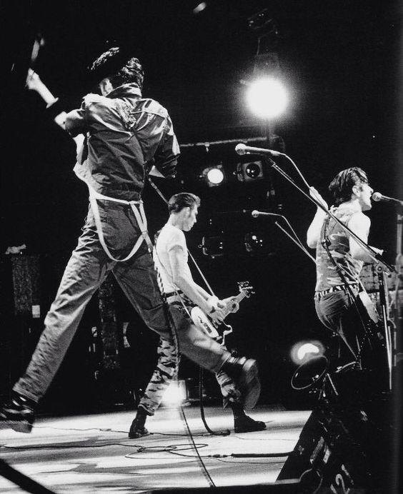 The Clash - Joe Strummer, Paul Simonon and Mick Jones