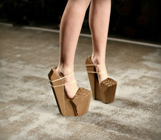 //Winde Rienstra cardboard shoes: