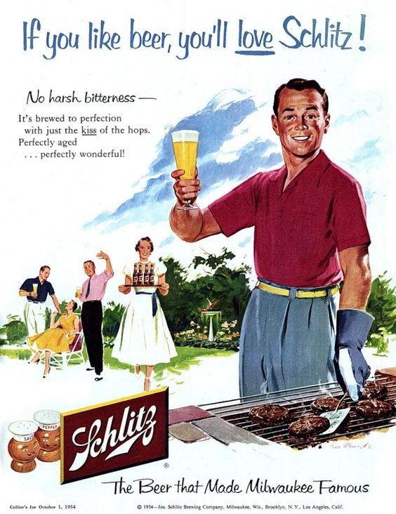 Schlitz Beer - 1954