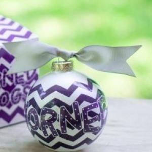 Any stylish fan will love this Texas Christian Unviersity Chevron Ornament... Go Horned Frogs! All collegiate ornaments come boxed and tied with a coordinating ribbon making them the perfect gift for anyone.