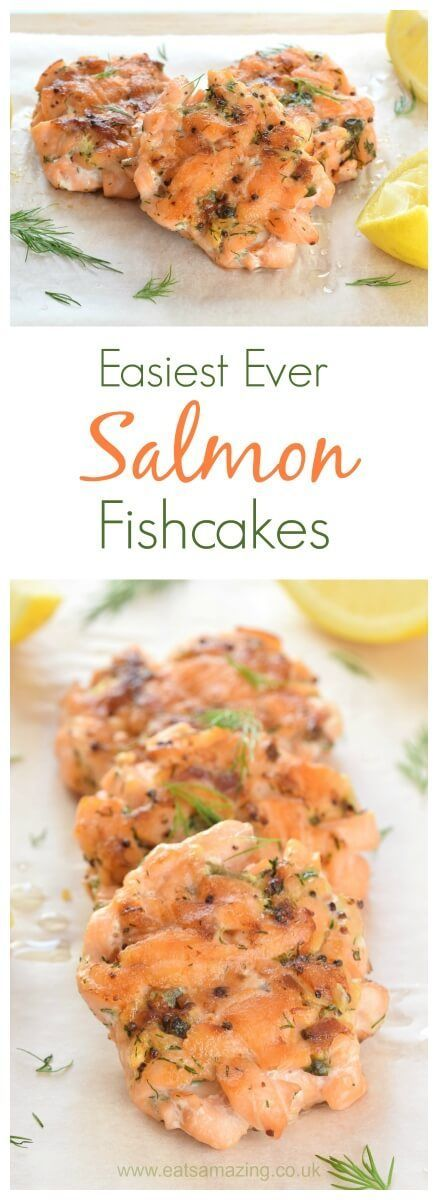 This really easy salmon fishcakes recipe is sure to be a hit with the whole family - no precooking or potato needed - Eats Amazing UK
