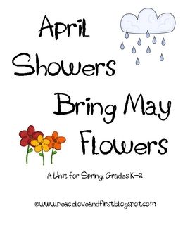 April Showers Bring May Flowers Vowel Sorting Activity