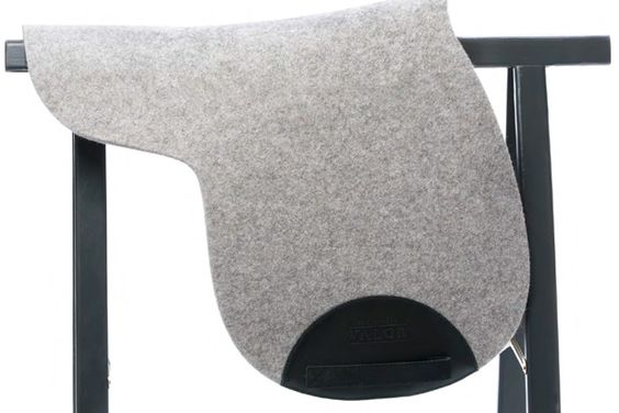 Manifattura Valor Grey Wool Felt & Leather Saddle Pad