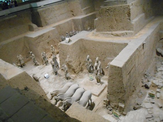 terracotta soldiers. Xian China