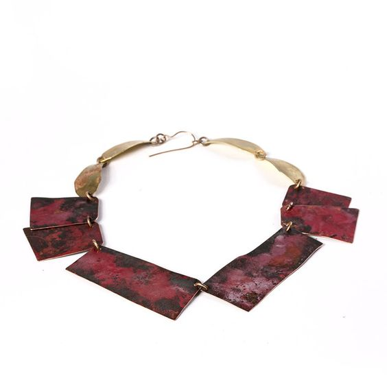 Roxy Lentz - Necklace • Copper, Brass, Steel.
