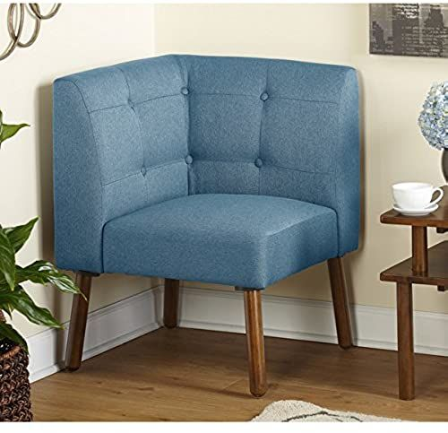 Best Seller Simple Living Wood Fabric Playmate Corner Chair Blue Online Popularbestsellers In 2020 Corner Chair Furniture Living Room Furniture