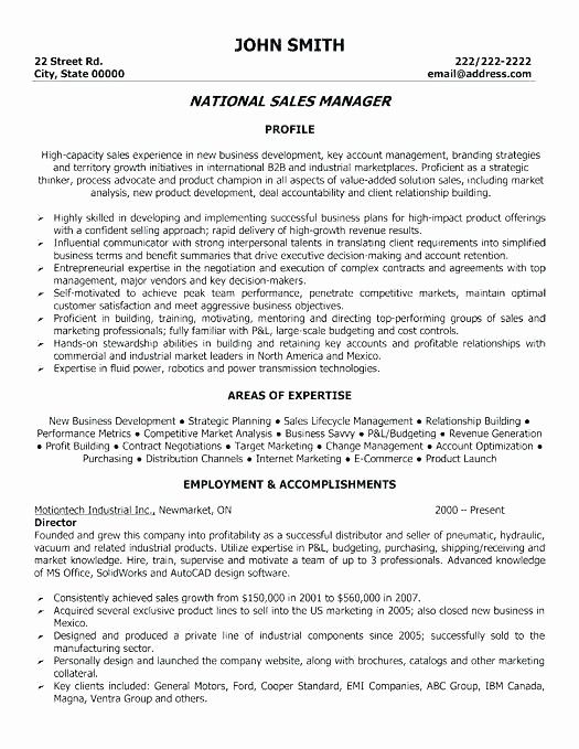 Elegant A Professional Resume Template For Regional Sales Manager Sales Resume Examples Resume Template Professional Resume Objective Examples