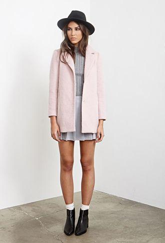 Textured Longline Coat | FOREVER21 - http://AmericasMall.com