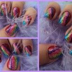 Nails Decorated with Glitter...