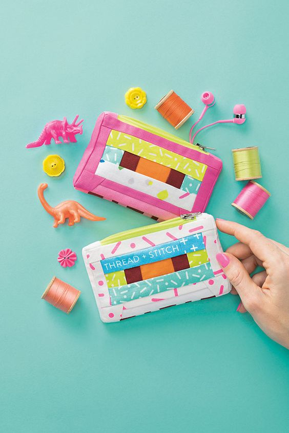 Sew your way to 80s vibes with Lysa Flower's patchwork cassette purses.