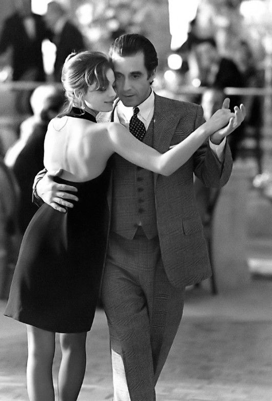 Al Pacino as Lieutenant Colonel Frank Slade and Gabrielle Anwar as Donna in Scent of a Woman 1992