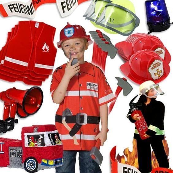 Verleihkiste Feuerwehr für 7 Kids: Deko und Kostüme, Preis für 4 Tage | Geburtstagsfee.de