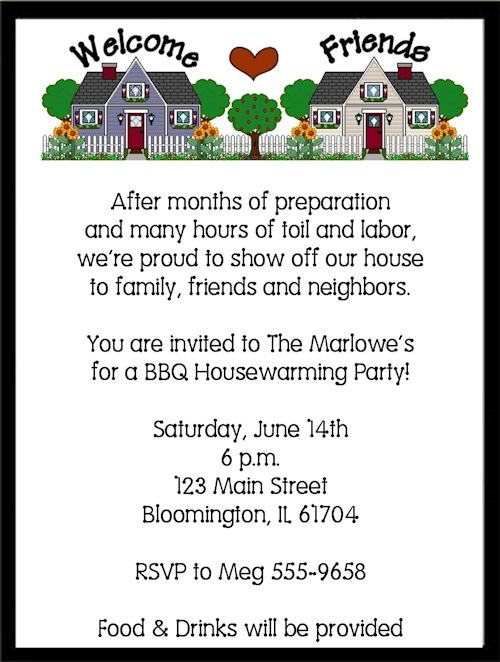 Housewarming Party Invitations combined with various party - housewarming invitation template