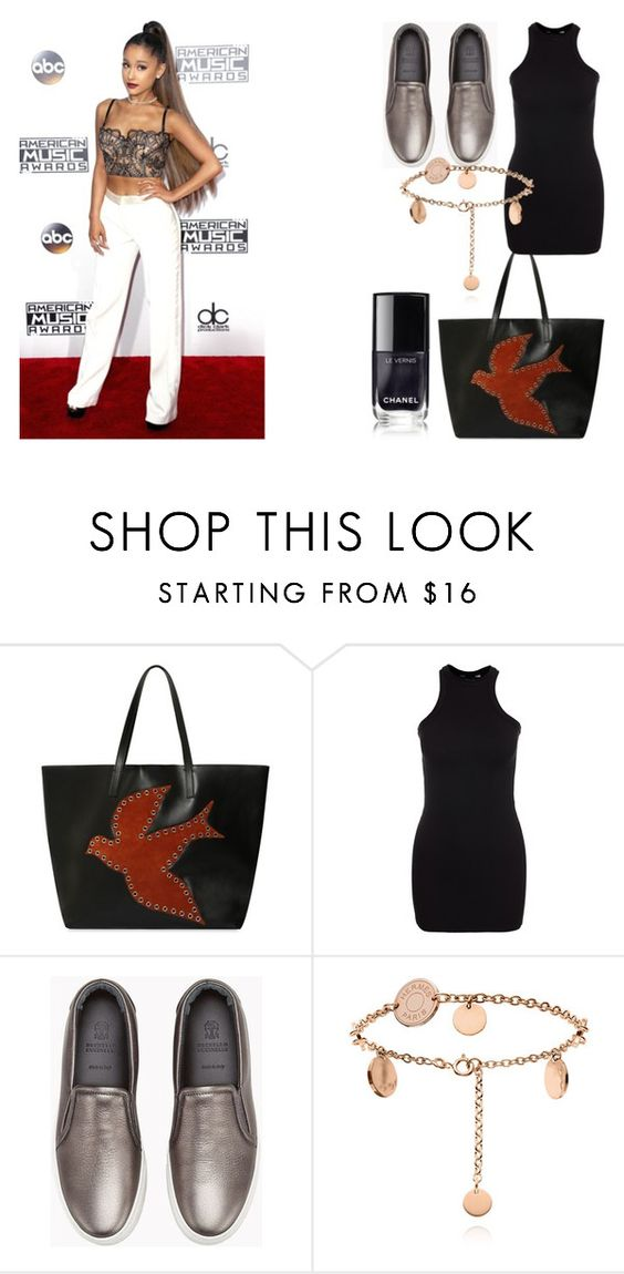 """""""Felicidade genuína"""" by de-garbelini ❤ liked on Polyvore featuring RED Valentino, New Look and Brunello Cucinelli"""