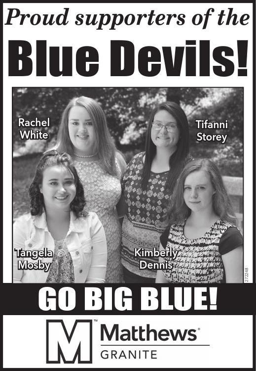 Proud supporters of the Blue Devils!    Rachel White  Tifanni Storey  Tangela Mosby  Kimbe... | Matthews International - Elberton, GA #georgia #ElbertonGA #shoplocal #localGA