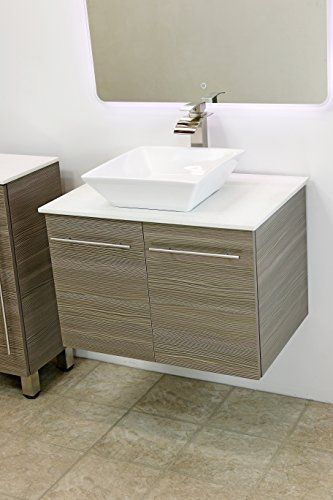 Special Offers - WindBay 24 wall mount floating bathroom vanity sink set. Vanities sink Grey - In stock & Free Shipping. You can save more money! Check It (May 08 2016 at 11:42AM) >> http://bathvanitiesusa.net/windbay-24-wall-mount-floating-bathroom-vanity-sink-set-vanities-sink-grey/