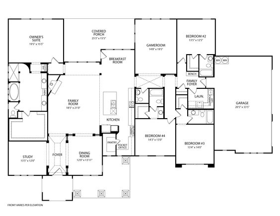 BROOKLYN 125 Drees Homes Interactive Floor Plans Custom Homes