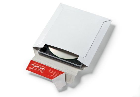 #ColomPac® - #Medienversandverpackung CP 011 für ein bis zwei CD-ROMs im #Jewelcase.• #Dinkhauser Kartonagen Vertriebs GmbH, #Selbstklebeverschluss, #Aufreißhilfe, #Versandverpackung, #Vollpappe, #CD, #DVD
