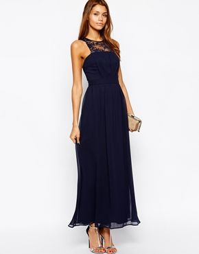 ASOS, this is nice? $110 Enlarge Elise Ryan Maxi Dress with Scallop Lace Trim