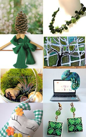 Green like a pine Xmas tree! by Luisa Lavado on Etsy--Pinned with TreasuryPin.com #PTteamEtsy #ChristmasColorsProject #EtsyEurope #Portugal