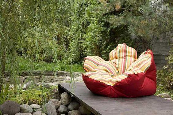 en forma de muebles upholsted flor para los niños, los pufs y sillones: