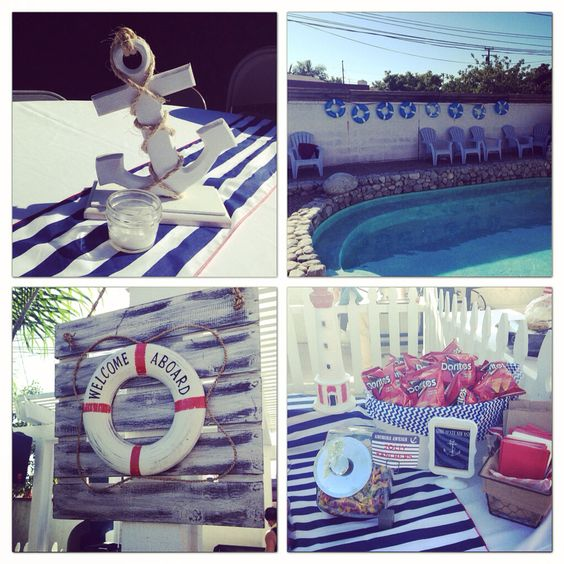 Nautical themed party decor!
