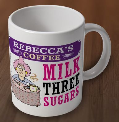 Aunty Acid Personalised Coffee Mug with your name and how you like your tea or coffee - Genius from Aunty Acid : ...