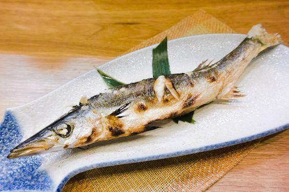 'Kamasu no shioyaki' is a broiled Barracuda with salte.