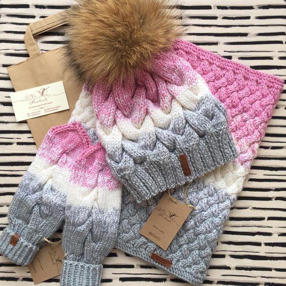Комплект шапка+снуд+варежки связан на заказ! Заказать такой же или в другом…: