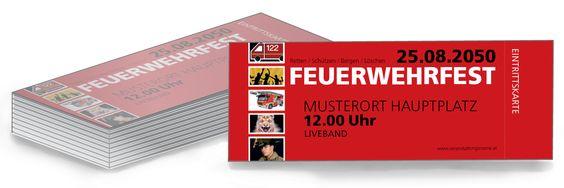 Event Eintrittskarten für dein Feuerwehrfest #designgestalten #eventeintrittskarte #onlinedruckversandkostenfrei #feuerwehr #ball