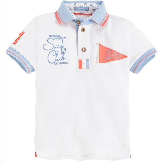 "Polo blanco ""surfing"""
