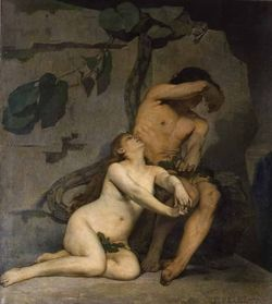 Fernand Pelez - Adam et Eve. Salon de 1876. Huile sur toile. Coll. musée départemental Anne de Beaujeu, Moulins. © Jean-Louis Losi.