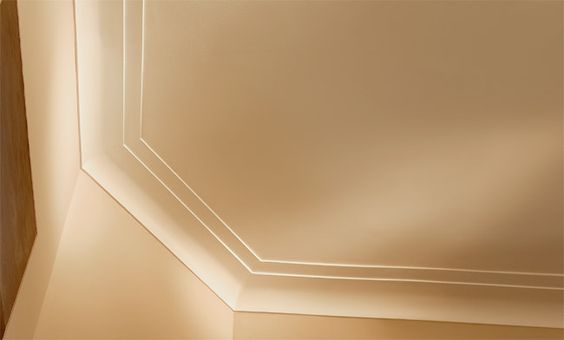 Modern crown molding idea lape family room pinterest for Contemporary trim moulding