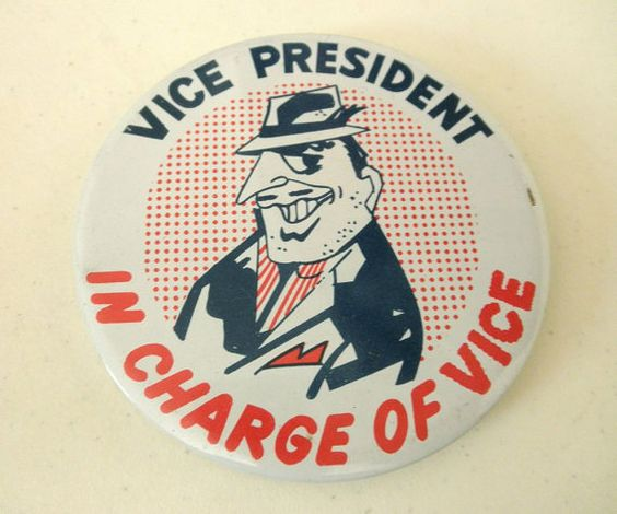 Vice President in Charge of Vice Collectible 1960s by JackpotJen, $16.00