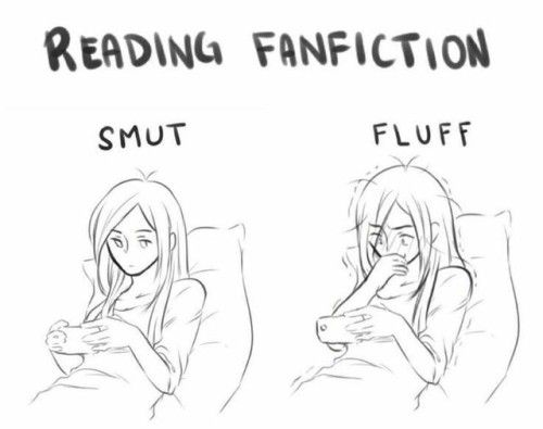 I can read smutt like I'm reading fluff