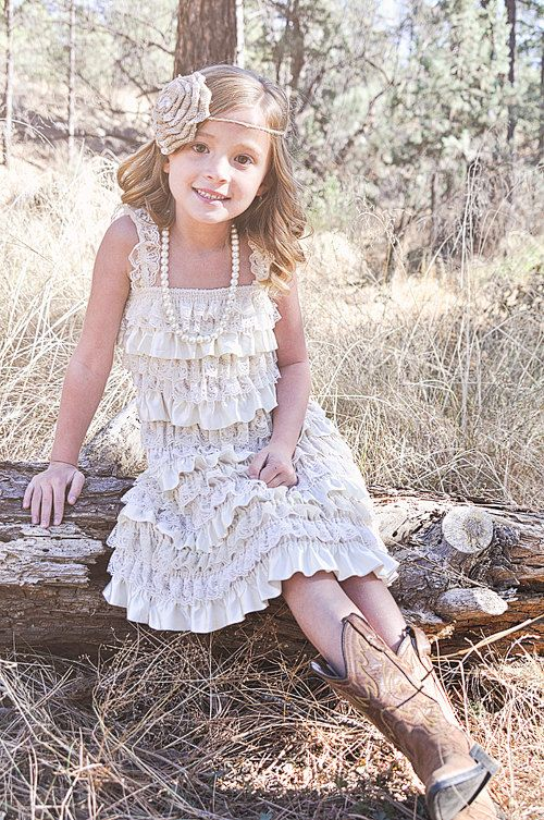 Rustic Junior Bridesmaid Dress Lace by CountryCoutureCo on Etsy: