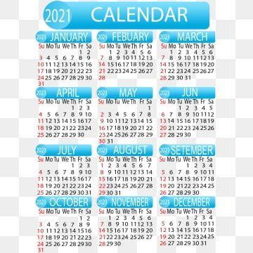 Year 2021 Creative Calendar Design, 2021, 2021 Calendar, Year PNG