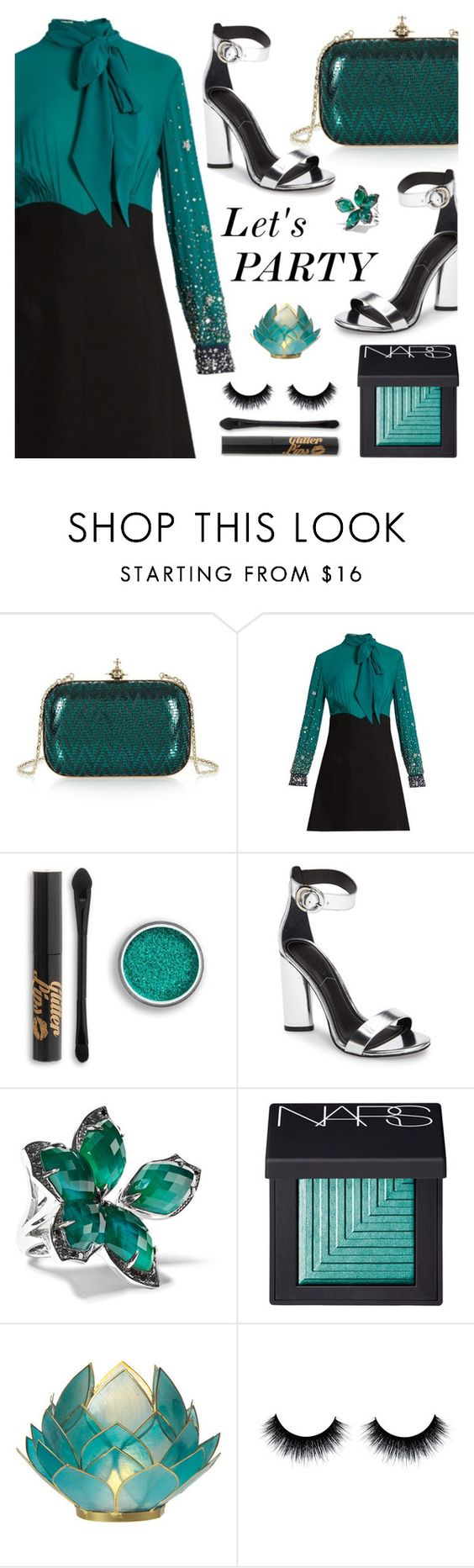 """let's PARTY!!"" by razone ❤ liked on Polyvore featuring Vivienne Westwood, Miu Miu, Kendall + Kylie, Stephen Webster, NARS Cosmetics and Cultural Intrigue"