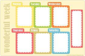 MeinLilaPark – DIY printables and downloads: free printable weekly planner - ausdruckbarer Wochenplan - freebie
